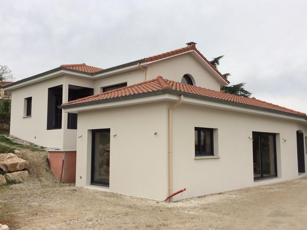 Crepi Exterieur Gris Anthracite projection sur maison syporex, bfd-façades